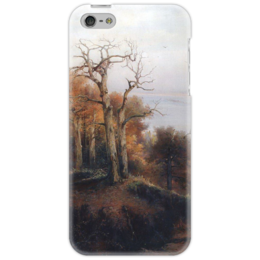 "Чехол для iPhone 5 ""Осенний лес. Кунцево. (Проклятое место)"" - картина, саврасов"