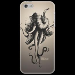 """Чехол для iPhone 5 """"Октослон"""" - рисунок, слон, осьминог, мутация, октослон"""