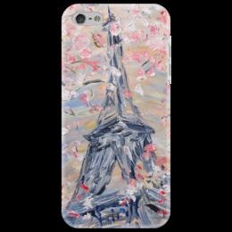 """Чехол для iPhone 5 """"Париж"""" - весна, франция, сакура, париж, эйфелева башня"""