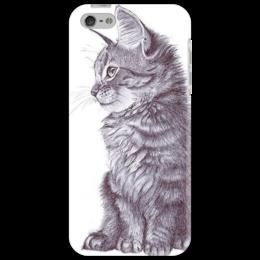 """Чехол для iPhone 5 """"Котенок"""" - арт, популярные, оригинально, kitten"""