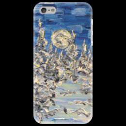 """Чехол для iPhone 5 """"Хрусталь"""" - новый год, winter, зима, снег, лес, красивые, луна, подарки"""