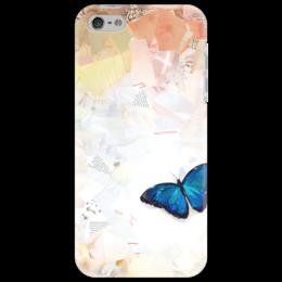 "Чехол для iPhone 5 ""Blue Mortho"" - бабочка, коллаж, butterfly, collage"