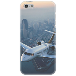 "Чехол для iPhone 5 ""Чехол ""Comfort in Air"""" - небо, самолёт, нью йорк, высотка"