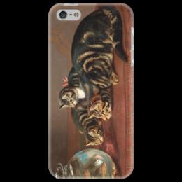 "Чехол для iPhone 5 ""Cats by a fishbowl"" - картина, коулдри"