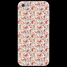 """Чехол для iPhone 5 """"Пейсли (Яркий)"""" - цветы, лепестки, цветок, узор, пейсли"""