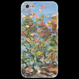 "Чехол для iPhone 5 ""Зазеркалье"" - осень, sky, небо, autumn, листва, leafs"