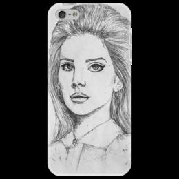 """Чехол для iPhone 5 """"Lana Del Rey"""" - арт, девушка, популярные, женская, прикольные, в подарок, оригинально, креативно"""