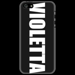 """Чехол для iPhone 5 """"с именем Виолетта"""" - чехол с именем, чехол с именем виолетта, виолетта"""
