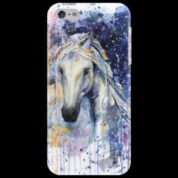 """Чехол для iPhone 5 """"И только лошади летают вдохновенно..."""" - арт, популярные, рисунок, прикольные, лошади, оригинально, девушке, картины, креативно, чехол для телефона"""