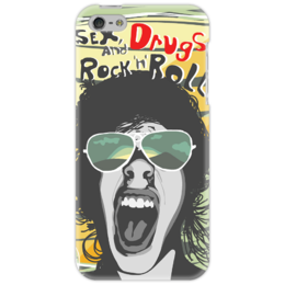 "Чехол для iPhone 5 ""sex-drugs-rock"" - sex, rock, face"