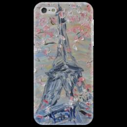 """Чехол для iPhone 5 """"Флердоранж"""" - красиво, романтика, невеста, париж, эйфелева башня"""