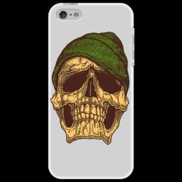 """Чехол для iPhone 5 """"Череп мерзнет"""" - череп, шапка, swag, indie"""
