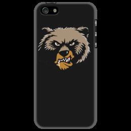 """Чехол для iPhone 5 """"Медведь"""" - медведь, животные, арт, россия, дизайн"""