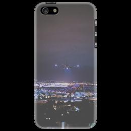 """Чехол для iPhone 5 """"Чехол """"Landing Lights"""""""" - ночь, самолёт, лос анджелес"""