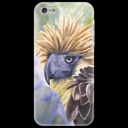 """Чехол для iPhone 5 """"Филиппинский орел """" - животные, птица, орел, иллюстрация, перья"""
