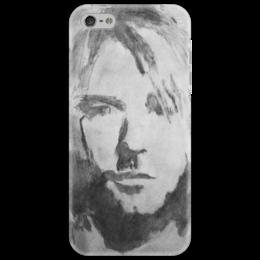"""Чехол для iPhone 5 """"Nirvana Art"""" - арт, nirvana, популярные, в подарок, курт кобейн, классика рока, legend, kurt cobain"""