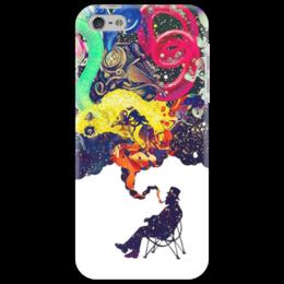 """Чехол для iPhone 5 """"Креатив"""" - человек, рисунки, дым, стул, креативное мышление"""