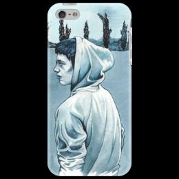 """Чехол для iPhone 5 """"синее"""" - парень, портрет"""