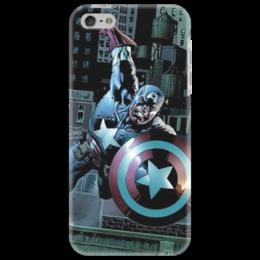 "Чехол для iPhone 5 ""Капитан Америка"" - комиксы, капитан америка, captain america"