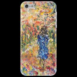 """Чехол для iPhone 5 """"Осень"""" - красивая девушка, autumn, осенью, в парке"""