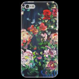 "Чехол для iPhone 5 ""Огонь ночи"" - цветочки, roses, розочки, огонь ночи"