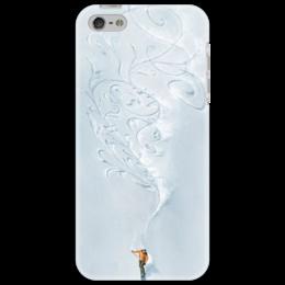 "Чехол для iPhone 5 ""Узор сноубордиста"" - узор, снег, горы, сноуборд, креативно, экстрим, каталка"