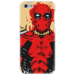 "Чехол для iPhone 5 ""Deadpool"" - кровь, маска, костюм, дэдпул, катаны"