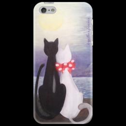 """Чехол для iPhone 5 """"Романтичный рисунок для влюбленных """" - любовь, море, прикольные, кошки, закат"""