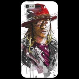 """Чехол для iPhone 5 """"Человек в шляпе"""" - человек, шляпа, очки, куртка, арт"""
