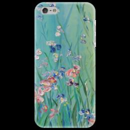 """Чехол для iPhone 5 """"Весна"""" - весна, небо, трава, апрель, лужайка"""