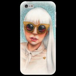 """Чехол для iPhone 5 """"Lady Gaga"""" - музыка, арт, music, стиль, поп, gaga, оригинально, выделись из толпы, lady gaga, личности"""