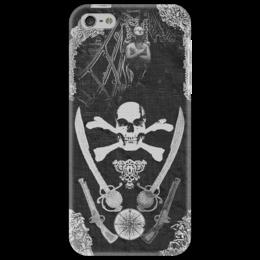 "Чехол для iPhone 5 ""Череп и Кости"" - skull, череп, пират, pirate"