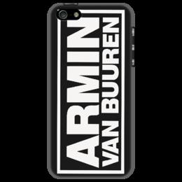 """Чехол для iPhone 5 """"Armin van Buuren Logo White"""" - logo, armin van buuren"""