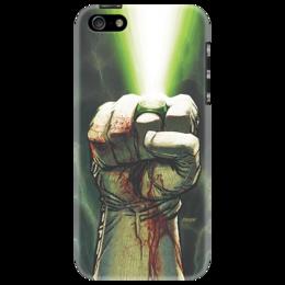 """Чехол для iPhone 5 """"Зеленый фонарь"""" - арт, комикс, комиксы, green, зеленый, иллюстрация, фан-арт, фан, зеленый фонарь, фонарь"""