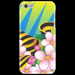 """Чехол для iPhone 5 """"Победа"""" - 9 мая, праздник, цветы"""