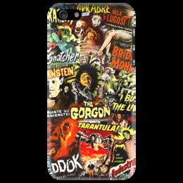 """Чехол для iPhone 5 """"Retro Horror"""" - ретро, кино, оригинально, фильмы, movie, ужасы, poster, постеры"""