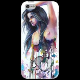 """Чехол для iPhone 5 """"Кости"""" - арт, девушка, iphone, айфон, дизайн, в подарок, оригинально, краски, стильно, секси"""