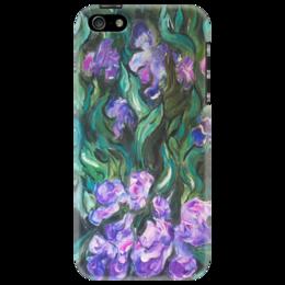 "Чехол для iPhone 5 ""Ирисы"" - цветы, ирисы, purple"