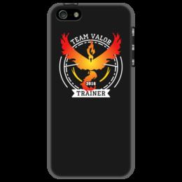 """Чехол для iPhone 5 """"Покемоны. Team Valor"""" - прикольные, покемон, покемоны, pokemon go, team valor"""