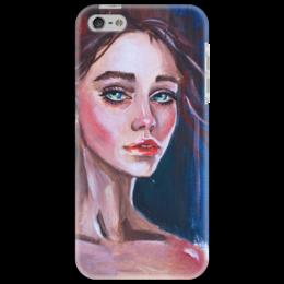 """Чехол для iPhone 5 """"Русская красавица"""" - арт, девушка, рисунок, экспрессия"""