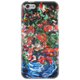 """Чехол для iPhone 5 """"Лед и пламя"""" - красиво, роза, в подарок, для девушки, цветочки"""