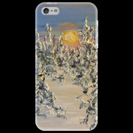 """Чехол для iPhone 5 """"Мороз"""" - зима, sun, небо, мороз, красиво зимой, люблю снег, солце"""