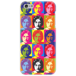 "Чехол для iPhone 5 ""John Lennon"" - энди уорхол, the beatles, pop art, john lennon, andy warhol, джон леннон"