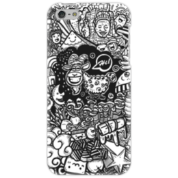 """Чехол для iPhone 5 """"Иллюстрация"""" - баран, козел, звезда, ананас, люди"""