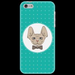 """Чехол для iPhone 5 """"Кот сфинкс"""" - кот, арт, бабочка, галстук, сфинкс"""