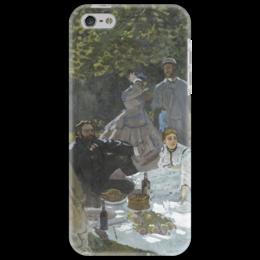 """Чехол для iPhone 5 """"Завтрак на траве (Клод Моне) 1866"""" - картина, моне"""