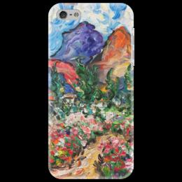 """Чехол для iPhone 5 """"Счастье"""" - красиво, небо, горы, пионы, розы"""