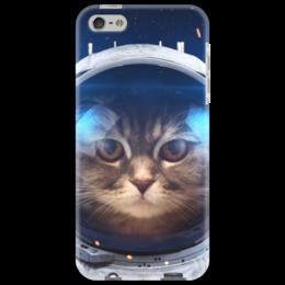 """Чехол для iPhone 5 """"Котосмонавт"""" - кот, космос, животное, костюм"""