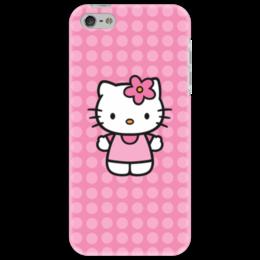 "Чехол для iPhone 5 ""Kitty в горошек"" - мультик, hello kitty, мультфильм, для детей, привет китти"