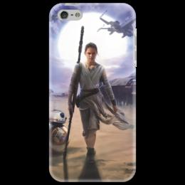 """Чехол для iPhone 5 """"Звездные войны - Рей"""" - фантастика, звездные войны, дарт вейдер, кино, star wars"""